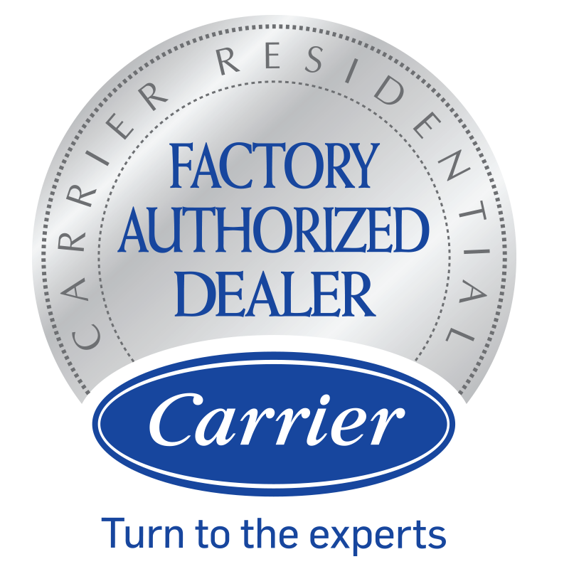 Factory authorized dealer badge for Carrier