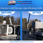 Before and after HVAC unit promotion