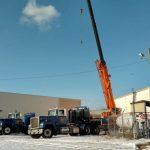 Crane on a hauler