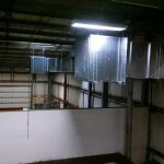 Commercial ductwork in commercial building
