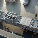 Commercial HVAC unit top view