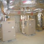 Comercial HVAC units in an HVAC room
